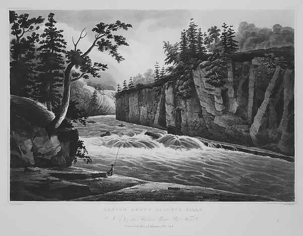 Rapids Above Hadleys Falls (The Hudson River Portfolio, plate 4)