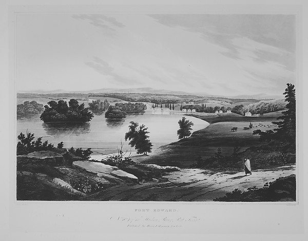 Fort Edward  (The Hudson River Portfolio, plate 10)