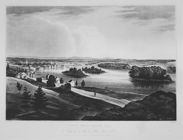 Troy from Mount Ida (The Hudson River Portfolio, plate 11)