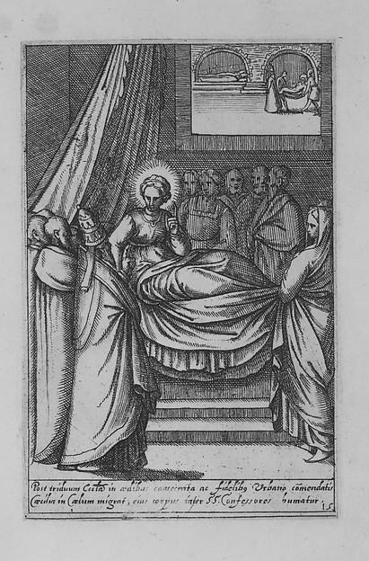 Saint Cecilia. Vita et matyrium S. et gloriosae...Rome, ca. 1590