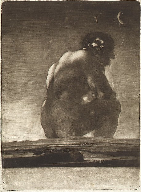 A Giant Seated in a Landscape, sometimes called 'The Colossus'