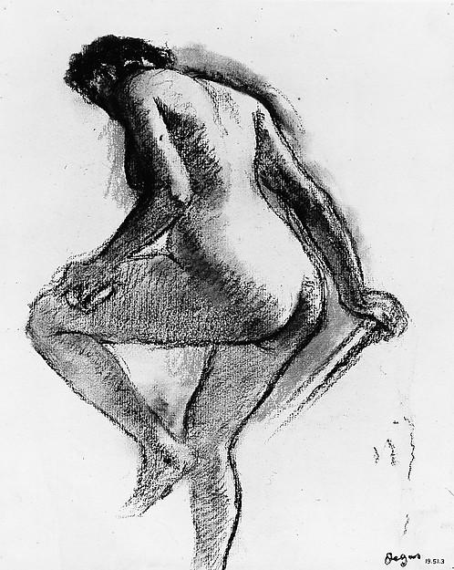 Bather Sponging Her Knee