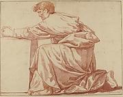 Kneeling Draped Male Figure