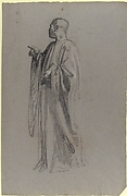 Cleric (lower register; study for wall paintings in the Chapel of Saint Remi, Sainte-Clotilde, Paris, 1858)