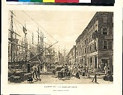 South Street from Maiden Lane, New York, in 1828