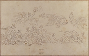 Design for a Ceiling Decoration with Neptune and the Four Continents