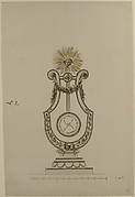 Design for a Clock in the Form of a Lyre