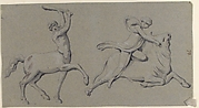 Centaur with Club and Maiden on Bull