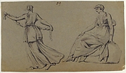 Scene of Dancing Maiden and Seated Woman