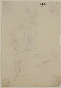 Standing Female Figure with Cupid; Figure of Cupid
