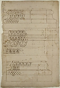 Unidentified, Composite base, elevation; Temple of Concordia, Composite base, elevation; Unidentified, Composite base, elevation (recto) blank (verso)