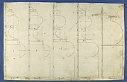 The Bases of the Columns, in Chippendale Drawings, Vol. I