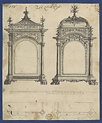 Table Clock Cases, in Chippendale Drawings, Vol. I