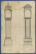 Clock Cases, in Chippendale Drawings, Vol. I