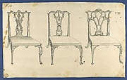 Three Chairs, in Chippendale Drawings, Vol. I