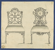 Gothick [Gothic] Chairs, in Chippendale Drawings, Vol. I