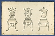 Table Chairs, in Chippendale Drawings, Vol. I