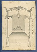 Bed, in Chippendale Drawings, Vol. I