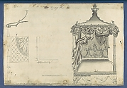 Canopy Bed, in Chippendale Drawings, Vol. I