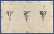 Brackets for Bustos, in Chippendale Drawings, Vol. I