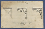 Brackets for Marble Slabs, in Chippendale Drawings, Vol. I