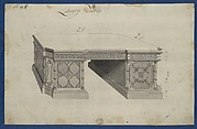 Library Table, from Chippendale Drawings, Vol. II