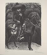 Emilio Zapata on horseback