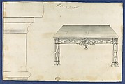 Sideboard Table, from Chippendale Drawings, Vol. II