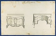 Commode Tables, from Chippendale Drawings, Vol. II