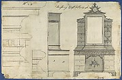 Dressing Chest and Bookcase, from Chippendale Drawings, Vol. II