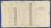 Moldings and Fretwork for China Case, from Chippendale Drawings, Vol. II
