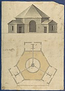 Outbuilding with Three Gears, from Chippendale Drawings, Vol. II