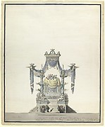 Catafalque for the Empress Catherine the Great of Russia (Front Elevation).