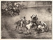 "Picador Caught by a Bull (Bravo toro), from the ""Bulls of Bordeaux"""