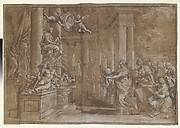Allegory in Honor of Cardinal Antonio Barberini the Younger (1607-1671) (Design for an Engraving)