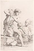 Figurine: Three Men in Conversation