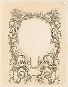 Ornamental Frame with Garlands