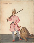 "A Janissary ""of War"" with a Lion"