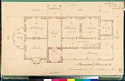 House for R. Dabney, Powhatan, Virginia (plan of principal floor)