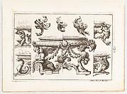 Desseins de Brasiers dont les Ornements peuuent Seruir aux Cuuettes, Tables, et autres Ouurages d'Orfeurerie, Plate 2