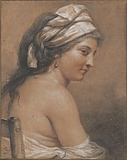 Study of a Seated Woman Seen from Behind (Marie-Gabrielle Capet)