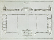 Elevation and Plan of a Small Building from the series Russian Palaces and Gardens