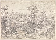 Roman landscape with figures near Paliano