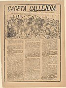 Continuation of Anti-re-election Riots...from Gaceta Callejera, May 1892, no. 2