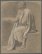 "Figure Study for ""The Death of Socrates"""