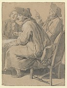 Three Men at a Table
