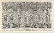 Decoration for a Masked Ball at Versailles, on the Occasion of the Marriage of Louis, Dauphin of France, and Maria Theresa, Infanta of Spain (Bal masqu&#233; donn&#233; par le roi, dans la grande galerie de Versailles, pour le mariage de Dauphin, 1745)