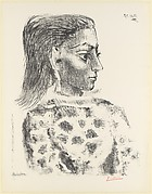 Bust with Check Cloth Blouse