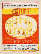 Picasso Ceramics and White Pottery Exhibition, Céret 1958