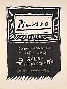 """Picasso Original Prints Exhibition,"" Galerie Nierendorf, Berlin 1964"